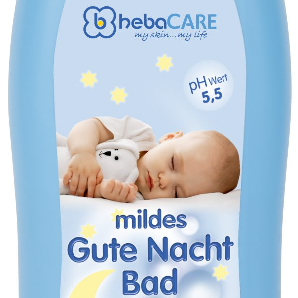 hebaCARE Gute Nacht Bad sensitiv